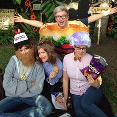 Grace Helbig, Hannah Hart, Tyler Oakley, and Mamrie Hart