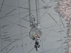 Miniature perfume bottle necklace Chamade by HeartsandBonesStudio, $58.00
