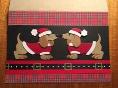 Marianne design dachshund Christmas card