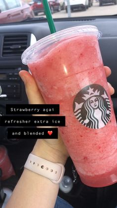 i wanna go to Starbucks Starbucks Flavors, Starbucks Hacks, Secret Starbucks Drinks, Starbucks Secret Menu Drinks, Starbucks Coffee, Healthy Starbucks Drinks, Starbucks Refreshers, Yummy Drinks, Drink Recipes