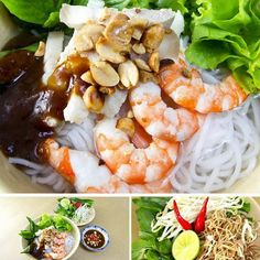 Vietnamese Traditional Food - Bun goi da
