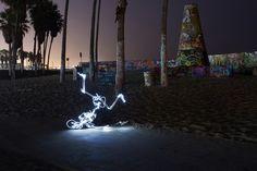 Awesome Life of Light Graffiti Skeletons - My Modern Metropolis