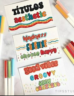 Bullet Journal Headers And Banners, Bullet Journal Writing, Bullet Journal School, Bullet Journal Ideas Pages, Bullet Journal Inspiration, Cute Notes, Pretty Notes, Creative Notebooks, Lettering Tutorial