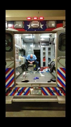 Powerful picture of an EMT after a tough run