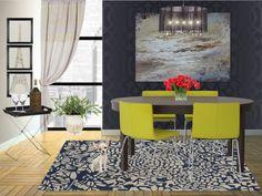 """City Living"" by yoshigirl28 on Polyvore #interiordesign #diningroom #contemporary #ikea"