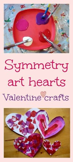 Symmetry art Valentine craft for kids - great art and maths lesson! | NurtureStore :: inspiration for kids