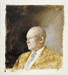 Portrait of Dwight Eisenhower by Andrew Wyeth
