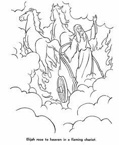 Elijah was taken to heaven in a chariot