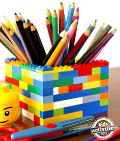 Make these and have a lego colouring station?