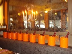 Painted paint cans as wine buckets - easy and the perfect match to any decor - from Hip Hostess Nye Party, Party Time, Barefoot Wedding, Wine Bucket, Wine Chiller, Wine Time, Party Ideas, Event Ideas, Cupcake Party