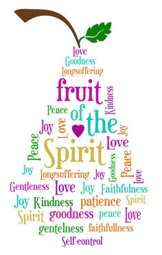 Love this! Fruit of the Spirit - Pear. Love, Goodness, peace, joy, long suffering, faithfulness, kindness, gentleness, self control, patience,