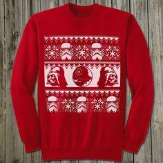 Star Wars Christmas Sweater. Ugly Christmas Sweater. Star Wars shirt men. Darth Vader shirt. The force Awakens. Christmas gift.  Holiday tee