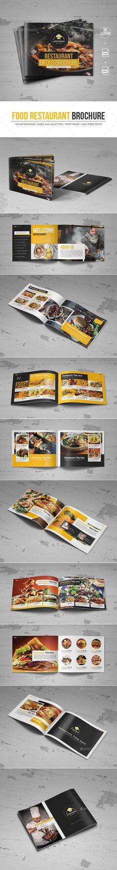 #Food #Restaurant Brochure - Corporate #Brochures Download here: https://graphicriver.net/item/food-restaurant-brochure/19732359?ref=alena994