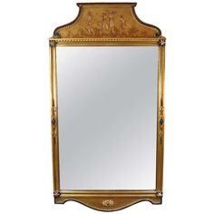Neoclassical Style Mirror | From a unique collection of antique and modern wall mirrors at http://www.1stdibs.com/furniture/mirrors/wall-mirrors/