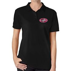 Vowoi Womens Bugatti Logo With Claw Polo Shirt Black >>> Click on the image for additional details.