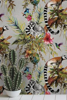Love this wallpaper design called Lemur from the Albany Imagination collection.