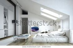 3d Rendering Architectural Bedroom Table Cabinet Stock Illustration 253811503