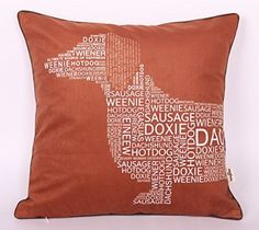 1RHshopstor Letter Dachshund Head Dark Brown26318 Sofa Simple Home Decor Design Throw Pillow Case Decor Cushion Covers Square 18x 18 Inches ** Want to know more, click on the image. Note: It's an affiliate link to Amazon