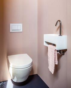 Associer le rose et le gris dans la déco des toilettes | My Blog Deco Gris Rose, Blog Deco, Beige, Pure Products, The Originals, Toilettes Deco, Envy, Ash Beige