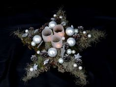 Kerstster Tablescape Centerpiece www.tablescapesbydesign.com https://www.facebook.com/pages/Tablescapes-By-Design/129811416695