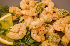 Sautéed shrimps with orange butter and sumac