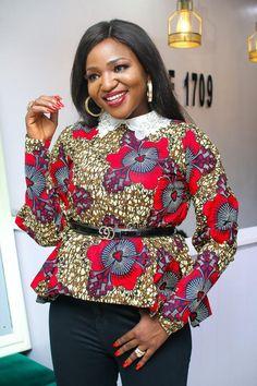 ankara peplum blouse and skirt styles Ankara Peplum Tops, Ankara Skirt And Blouse, Peplum Blouse, Ankara Long Gown Styles, Ankara Styles, African Fashion Ankara, Latest Ankara, Perfect Figure, Blouse Styles