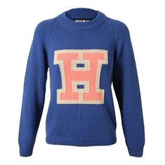 'H' motif cotton jumper