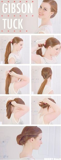 Gibson Tuck Hair Tutorial