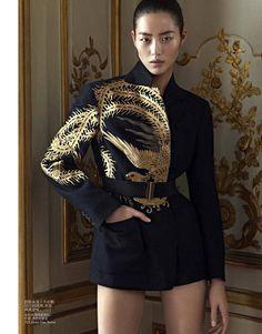 """""""Oriental Tales"""" : Liu Wen : Vogue China December 2012 : Karim Sadli"""