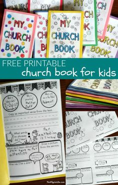 Free Printable Church Book for Kids is part of Christian Kids Crafts Book - Help your kids learn to pay attention and get more out of the sermon in church with this free church book for kids! Sunday School Kids, Sunday School Activities, Church Activities, Sunday School Lessons, Sunday School Crafts, Bible Activities For Kids, School Staff, Group Activities, Bible Study For Kids