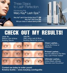 Mary Kay Lash Spa products were put to the test, and the results were amazing! marykay.com/ashlieh12
