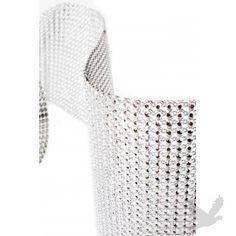 Diamond Rhinestone Ribbon Wrap Roll - Silver (1 yard) BEST SELLER!