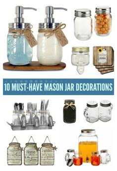 10 Must Have Mason Jar Decorations for the Kitchen