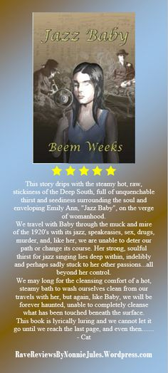 5 Star Review Jazz Baby by #RRBC member Beem Weeks, @BeemWeeks Check out this passionate book!