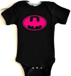 pb batman baby one piece bodysuit romper infant super hero clothes t shirt bat girl. $19.00, via Etsy.
