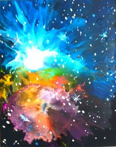 Crayons melted on canvas, abstract nebula space cloud. Galaxy, cosmos artwork  Check out more work at www.facebook.com/meltingmiltons Tattoo Shading, Colour Tattoo, Crayon Crafts, Crayon Art, Diy Arts And Crafts, Diy Crafts, Weather Crafts, Art Projects, Projects To Try