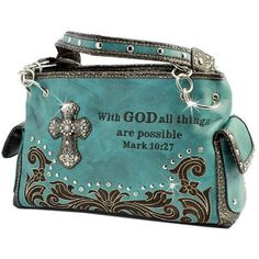 WESTERN RHINESTONE HANDBAG PURSE - TURQUOISE * You can find more details by visiting the image link.