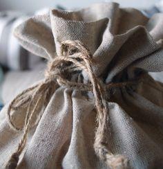 large 8x10 linen drawstring bags - item b986-02
