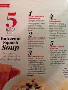 5 ideas for butternut squash