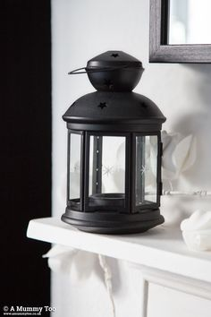 IKEA Rotera Tea Light Lanterns in Black
