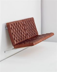 Fritz Hansen Sofa Designed By Poul Kjærholm For Is A Wall Mounted Two Seater The Upholstered In Niger Leather