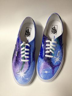 e633c00904 Items similar to MENS Galaxy VANS Hand Painted Custom Shoes Canvas Purple  Custom Nebula Starry Stars Night Sky - Any Size 5-16 on Etsy