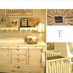 Rustic nursery-love the dresser