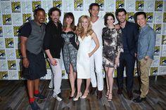 Cast of Grimm at San Diego Comic Con 2014 Grimm Cast, Grimm Tv, Grimm Season 4, Nick Burkhardt, David Giuntoli, Sasha Roiz, Grimm Fairy Tales, 2015 Wedding Dresses, Tv Land