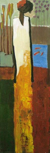 Dreaming of Spring (36x12 oil on canvas)view more by Goli Mahallati