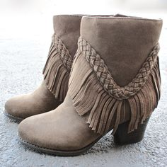 sbicca vintage collection suede patience fringe booties - shophearts - 1