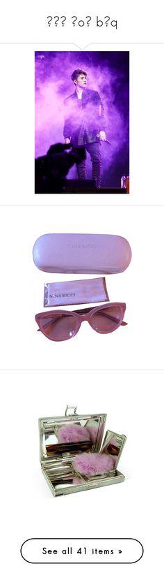 """˙ʇı ɹoɟ bǝq"" by jaethighs ❤ liked on Polyvore featuring accessories, eyewear, sunglasses, glasses, fillers, retro sunglasses, retro style sunglasses, lens glasses, retro glasses and nina ricci glasses"