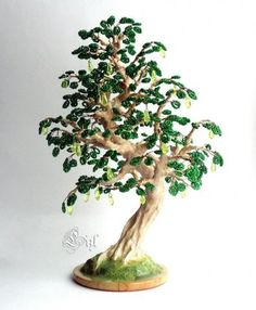 После дождя Bonsai Wire, Nylon Flowers, French Beaded Flowers, Wire Trees, Wire Art, Beads And Wire, Fireworks, Arts And Crafts, Beadwork
