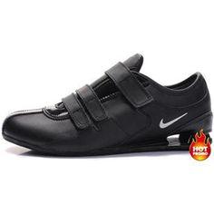 www.asneakers4u.com Mens Nike Shox R3 Velcro Black White