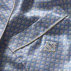 Monogrammed silk pyjamas with regal style, Olivia Von Halle